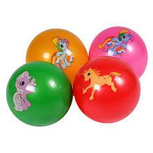 """М'яч 9"""" BT-PB-0160 коні 5рис.4кол.60г сітка /300/"""