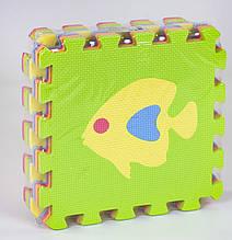 Килимок-пазл EVA З 36602 Рибки (24) масажний, 9 їв. в упаковці, 30х30см
