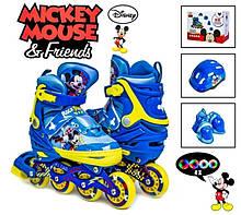 Комплект роликов Disney Mickey Mouse р34-37 Все колеса светятся