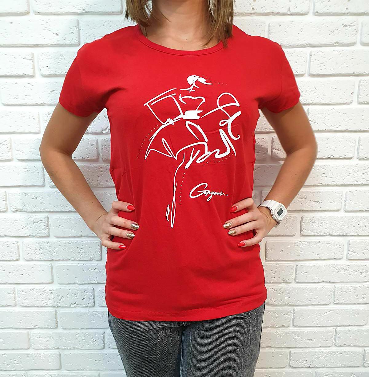 Универсальная женская футболка 42-46 (в расцветках)