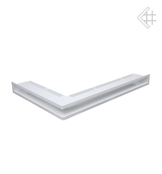 Вентиляционная решетка для камина KRATKI люфт угловая правая 547х766х60 мм SF белая
