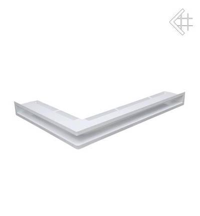 Вентиляционная решетка для камина KRATKI люфт угловая правая 547х766х60 мм SF белая, фото 2