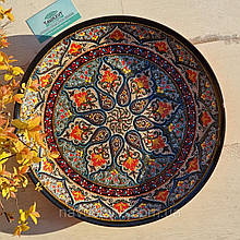 Узбекская тарелка точечная техника d 37 см. Риштан (189)