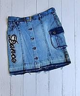 """Спідниця джинсова підліткова на гудзиках на дівчинку 9-12 років """"MARI"""" купити недорого від прямого постачальника"""