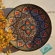 Узбекская тарелка точечная техника d 37 см. Риштан (190)
