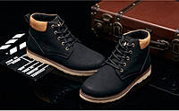 Мужские кожаные зимние ботинки модель 0482, фото 2