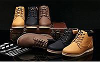 Мужские кожаные зимние ботинки модель 0482, фото 3