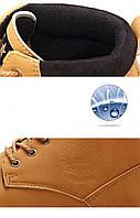 Мужские кожаные зимние ботинки модель 0482, фото 6