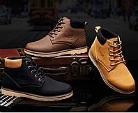 Мужские кожаные зимние ботинки модель 0482, фото 4