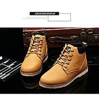 Мужские кожаные зимние ботинки модель 0482, фото 9