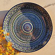 Тарелка для плова авторской росписи d 32 см. Узбекистан (161)