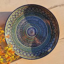 Тарелка для плова авторской росписи d 32 см. Узбекистан (162)