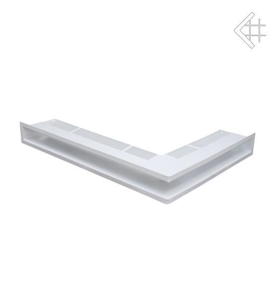 Вентиляционная решетка для камина KRATKI люфт угловая левая 766х547х90 мм SF белая