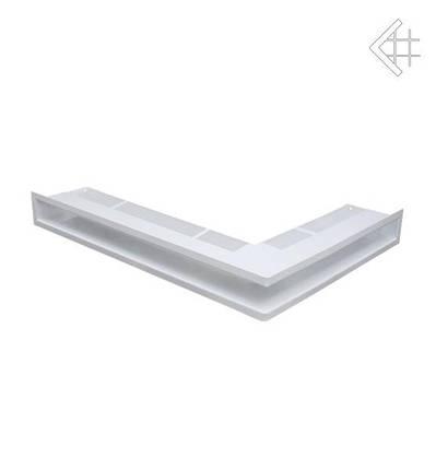 Вентиляционная решетка для камина KRATKI люфт угловая левая 766х547х90 мм SF белая, фото 2