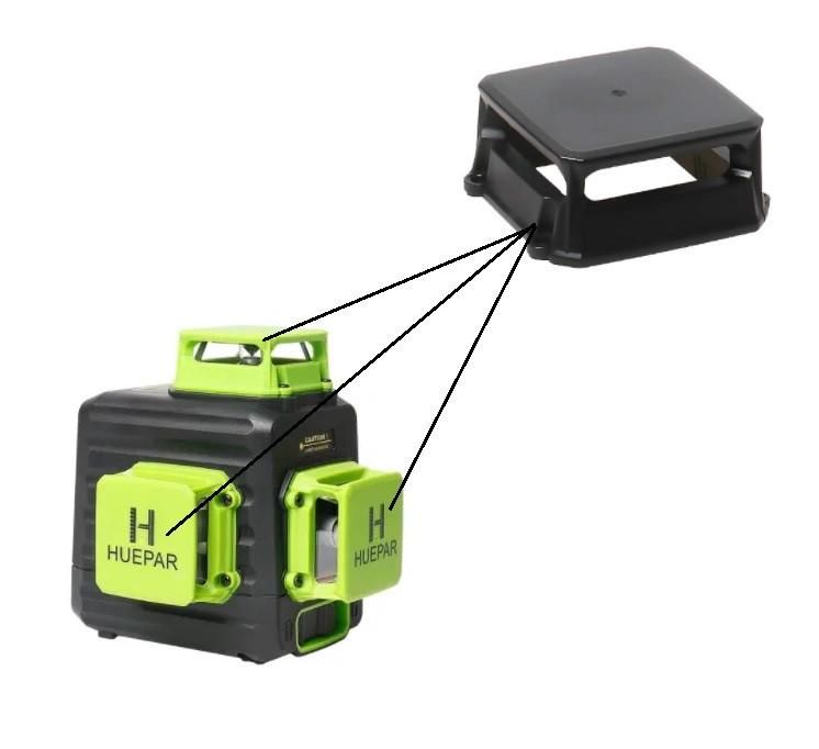 💥 Скляне вікно/вежа і захисна кришка для лазерного рівня Huepar B03CG
