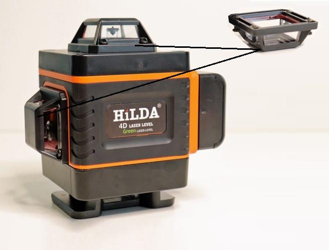 💥Вежа/скло/вікно/ бокова для лазерного рівня HILDA 4D 16 ліній