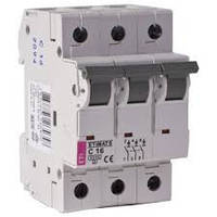 Автоматический выключательETIMAT 6  3p C 16А (6 kA), ETI, 2145516