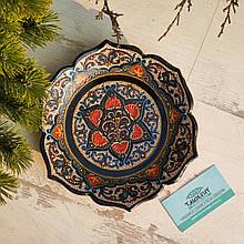 Узбекская тарелка точечная техника d 23 см. Риштан (3)