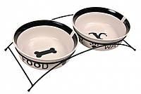 Trixie (Трикси) Eat on Feet Ceramic Bowl Set Набор мисок для котов и собак на подставке 2 х 250 мл
