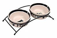 Trixie (Трикси) Eat on Feet Ceramic Bowl Set Набор мисок для собак на подставке 2 х 1600 мл
