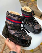 Жіноче Взуття Місяцеходи ЛВ Зима Коричневі