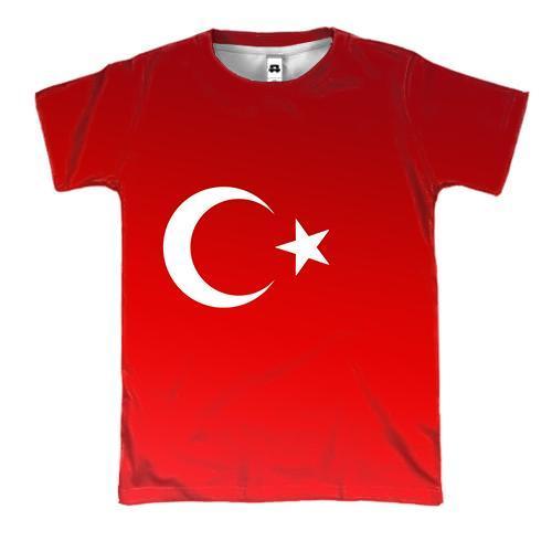 3D футболка с градиентным флагом Турции