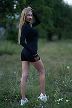 Женский комбинезон с высоким воротом Lameia черный