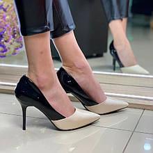 Жіночі Туфлі Севен Чорно-Білі