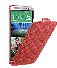 Кожаный чехол флип Avatti для HTC Desire M8 красный