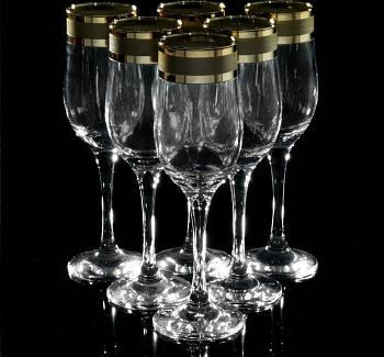 "Набор бокалов для шампанского ""Ампир"" 200 мл, 6 шт."
