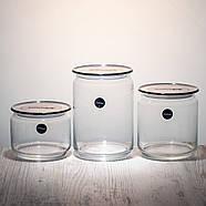 Набор банок для сыпучих продуктов « Plano N3454 »  с серыми крышками., фото 2