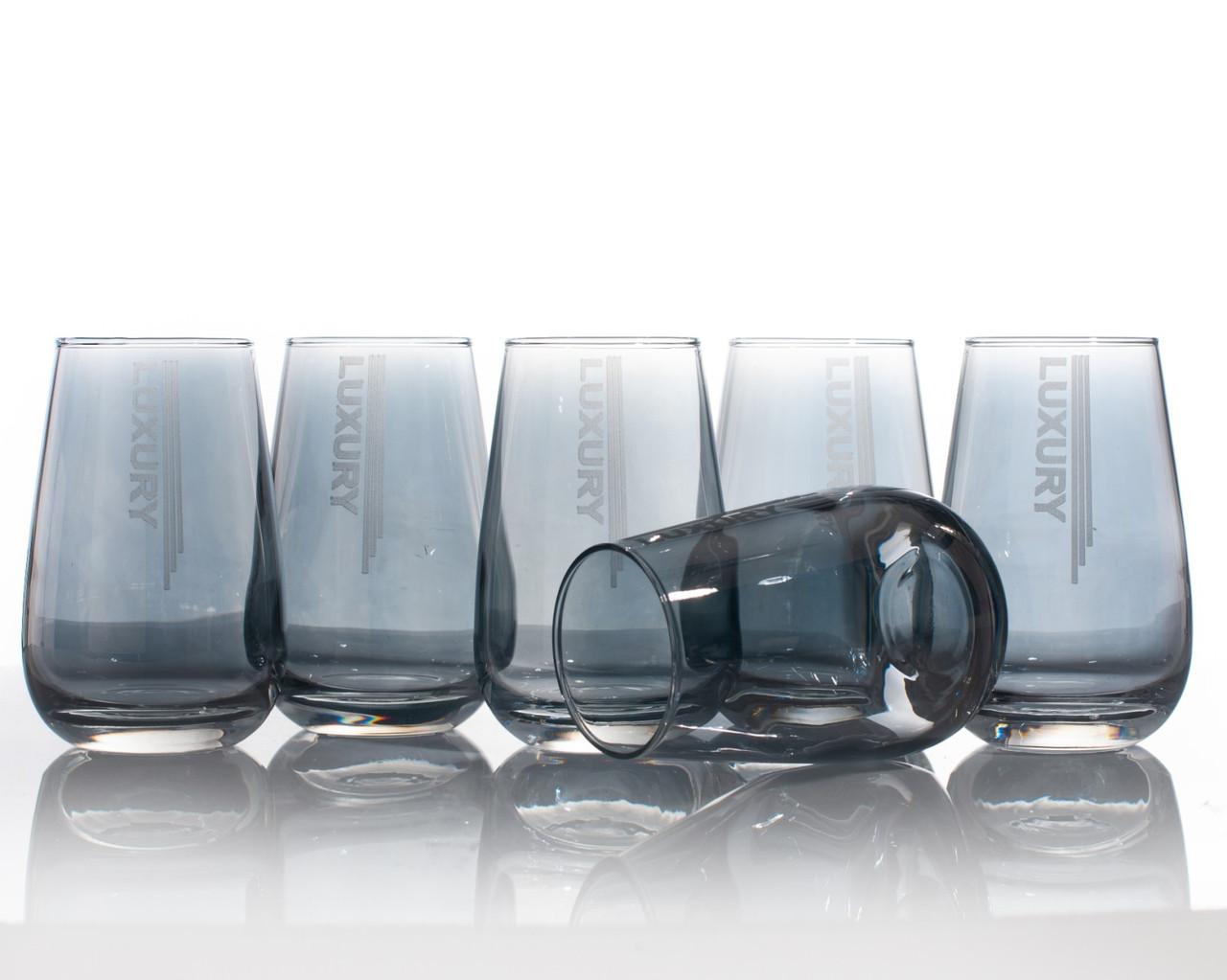 Набір склянок для води luxury аметист 350 мл, 6 шт.