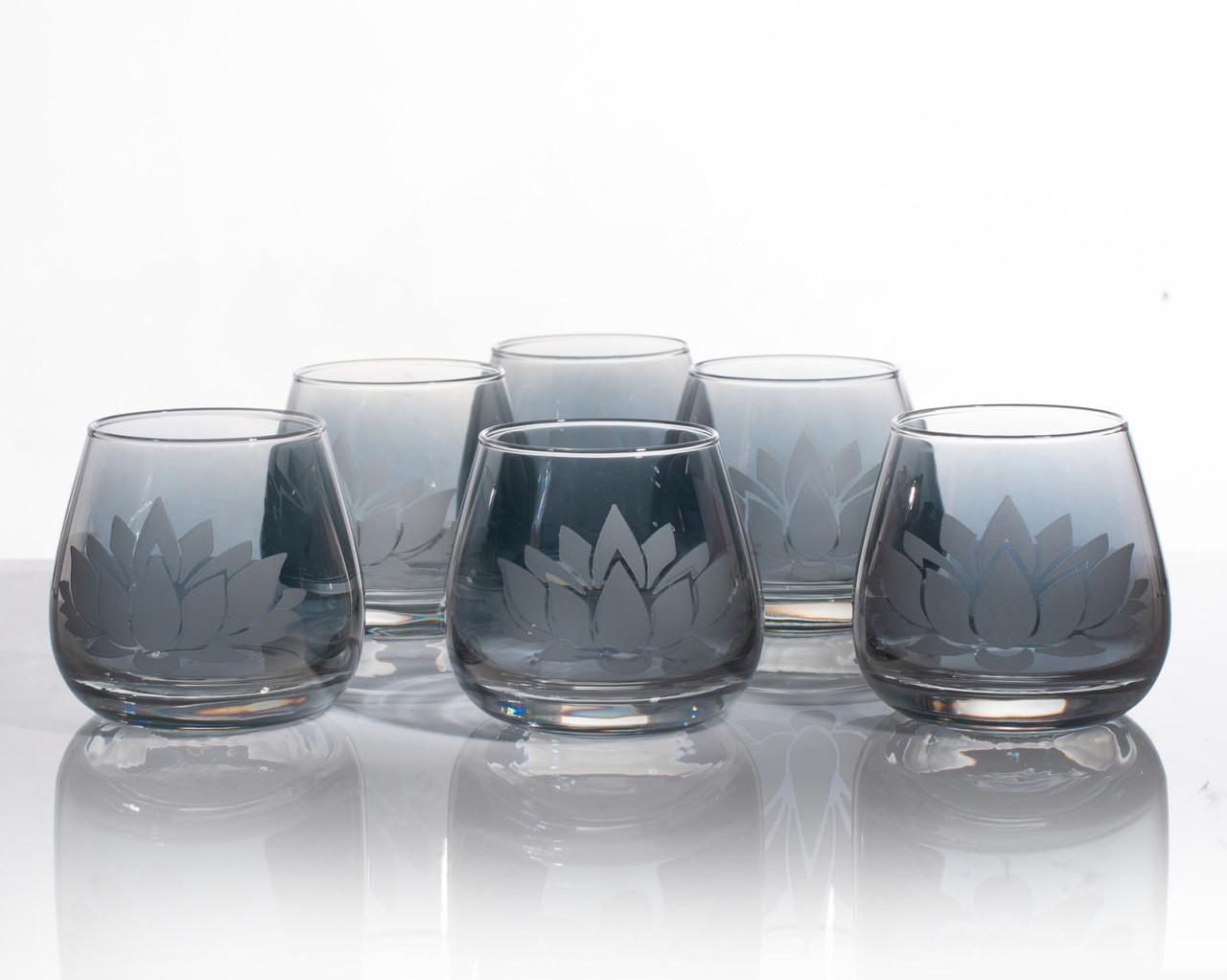 Набір склянок Лотос аметист для віскі 300 мл, 6 шт.
