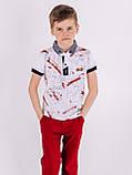 Стильная футболка с воротником для мальчика, фото 2