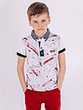 Стильная футболка с воротником для мальчика, фото 3