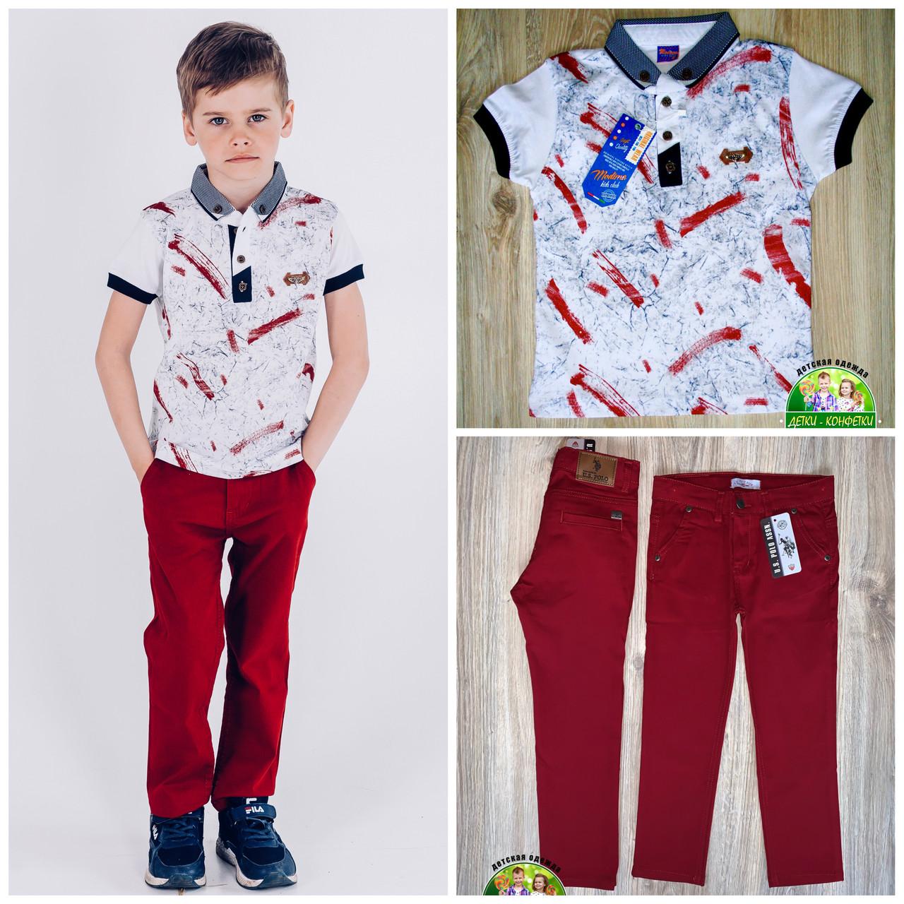 Стильная футболка с воротником для мальчика