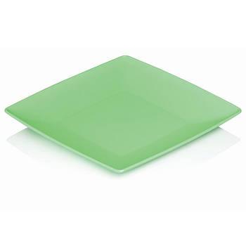 Тарелка квадратная 240х240х20 мм плоская из пищевого пластика «Ucsan Plastik».