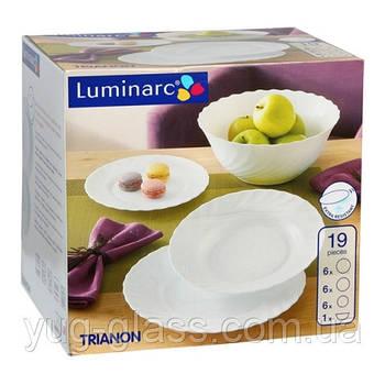 """Сервиз столовый 19 предметный Trianon """"00144"""" Luminarc."""
