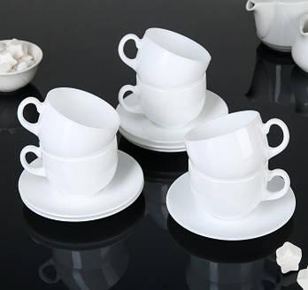 Набор чашек 220 мл с блюдцами Peps Evolution  Luminarc 12 предметный.