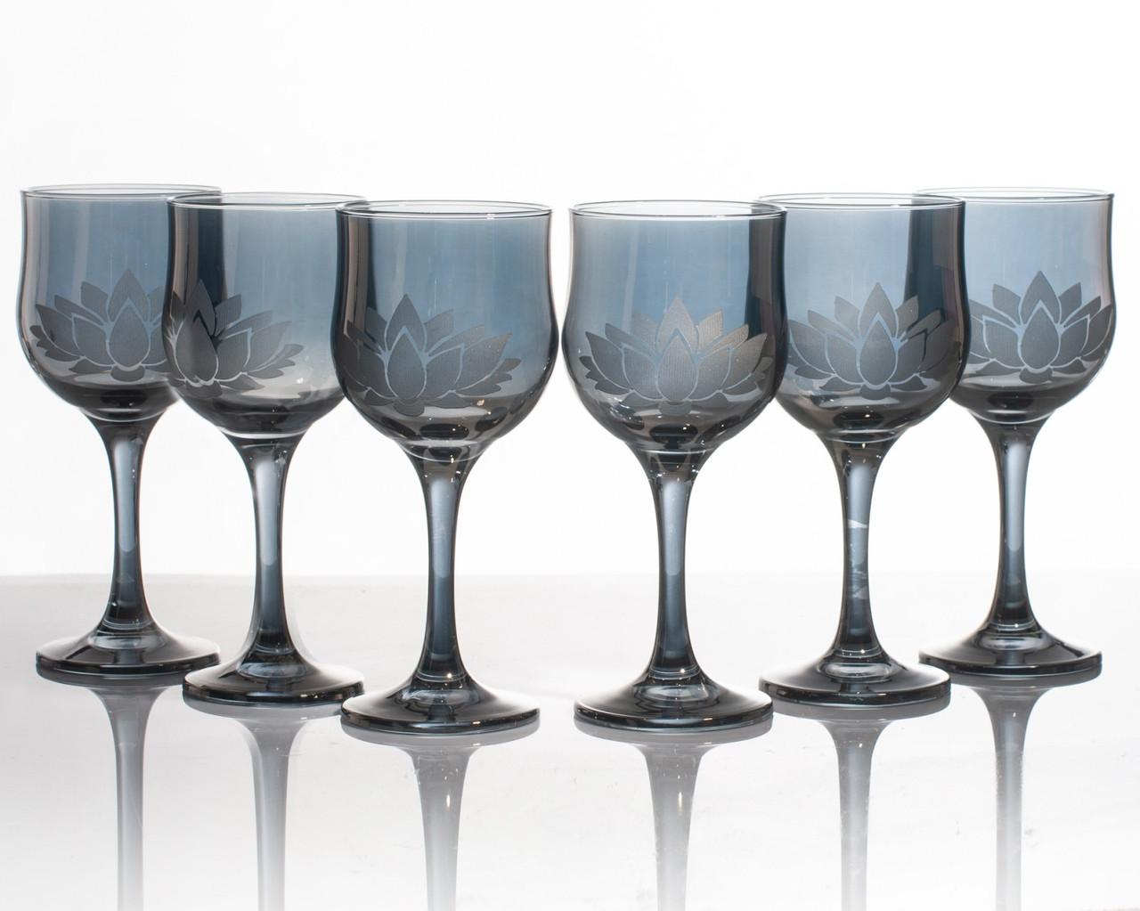 Набор бокалов Лотос аметист для вина 240 мл, 6 шт.
