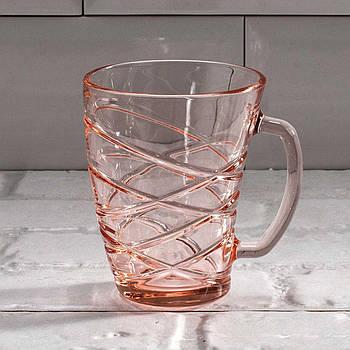 """Кружка 320 мл """"Шейп Эланор"""" розовая Luminarc."""