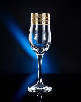"""Набор бокалов для шампанского рисунок """"Версаче"""" 200 мл, 6 шт."""