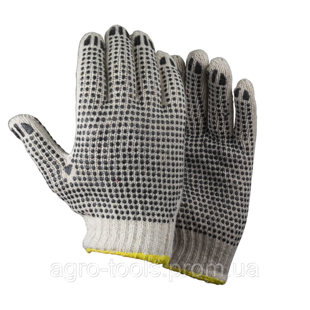 Перчатки трикотажные с точечным ПВХ покрытием р9 (двухсторонние манжет) SIGMA (9442321)