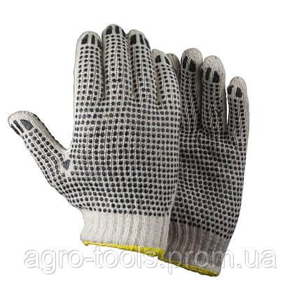 Перчатки трикотажные с точечным ПВХ покрытием р9 (двухсторонние манжет) SIGMA (9442321), фото 2