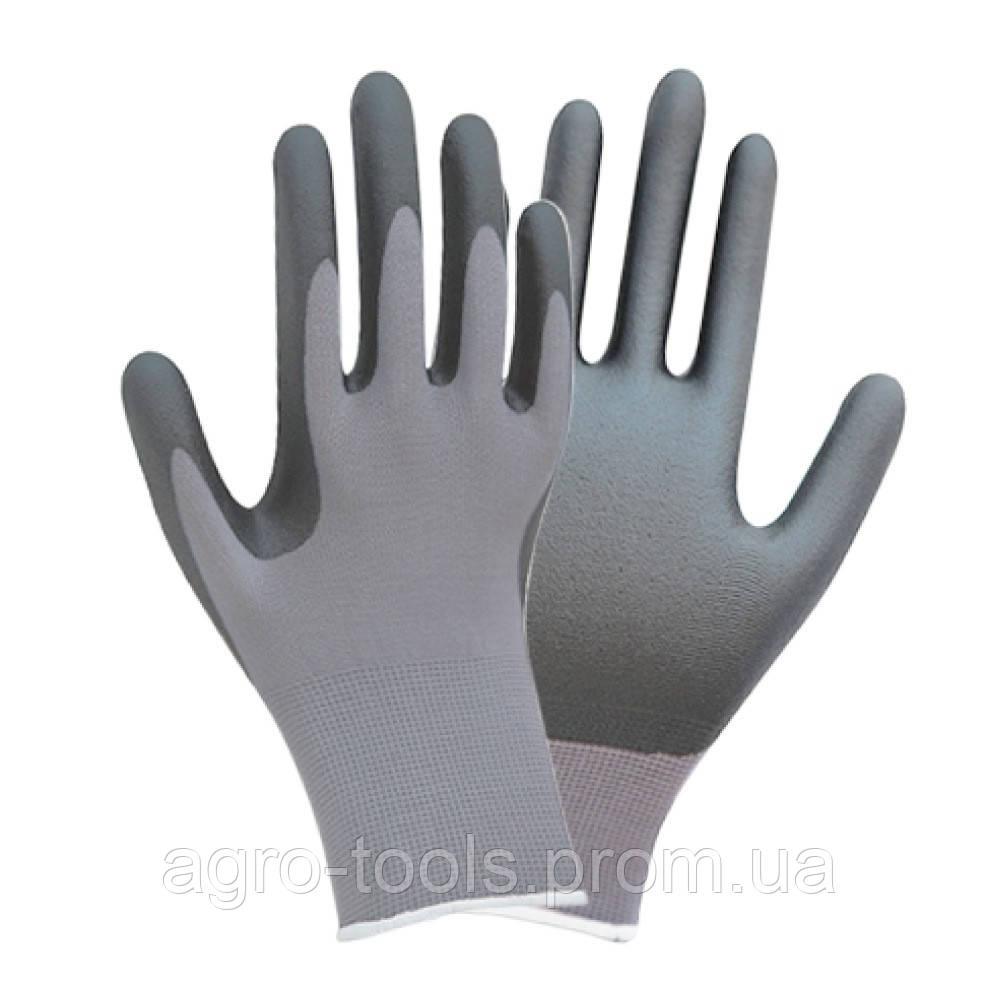 Перчатки трикотажные с частичным нитриловым покрытием р10 (серые манжет) SIGMA (9443521)
