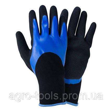 Перчатки трикотажные с двойным нитриловым покрытием р9 (сине-черные манжет) SIGMA (9443671), фото 2