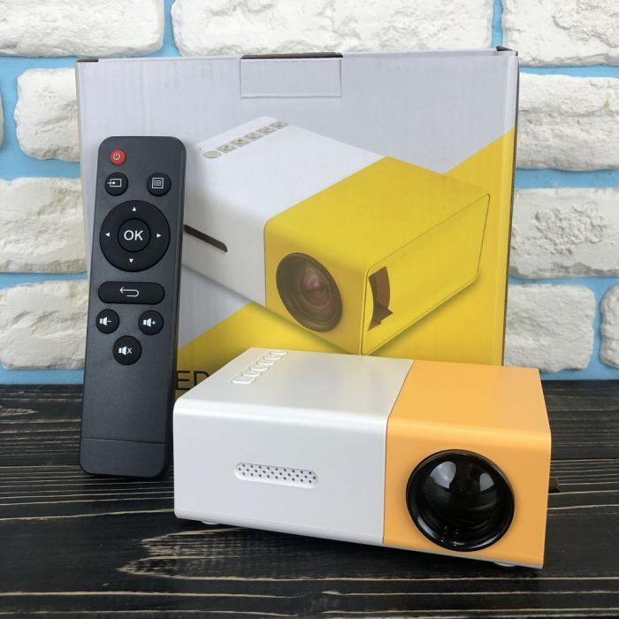 Портативний міні проектор YG-300 для будинку смартфона лід led кишеньковий проектор домашній домашнього