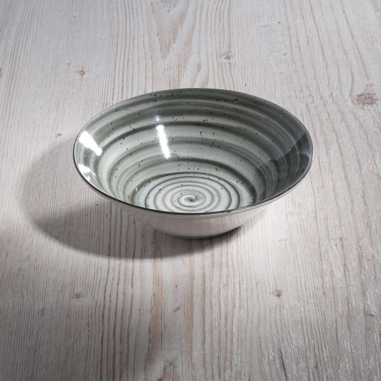 """Тарелка глубокая суповая  500 мл """"Графит"""" 17 см керамика."""