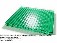 Поликарбонат сотовый зелёный 6мм,  2.1*6м, Duralon, Одесса