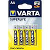 Батарейки VARTA SUPERLIFE AA BLI 4 ZINC-CARBON